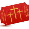 Stock Photo: Religious event ticket illustration design