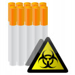 Royalty-Free Stock Photo: Warning sign and cigarettes illustration design on white
