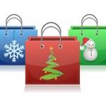 Set of Christmas shopping bags illustration — Stock Photo