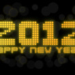 2012 New Year Card - neon lights shining — Stock Photo #9308350