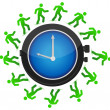 Stock Photo: Group of running around clock illustration design
