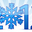 Snowflake 2012 text illustration design — Stock Photo