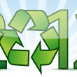 Stock Photo: 2012 ecology recycle concept illustration design