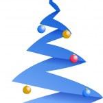 Winter Christmas tree illustration design — Stock Photo