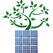 Solar panel plant illustration design , on white background — Stock Photo