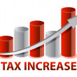 Stock Photo: Tax Increase graph illustration design on white background