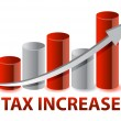 Tax Increase graph illustration design on white background — Stock Photo