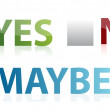 Vote yes, no or maybe illustration design — Stock Photo
