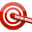 Target bulls eye social media illustration design on white - Foto Stock