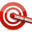 Stock Photo: Target bulls eye social mediillustration design on white