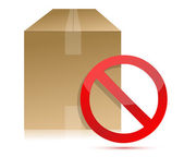 Shipping box with don't sign illustration — Stock Photo