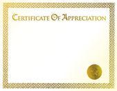 Başarı çizimi şablonunun sertifika — Stok fotoğraf