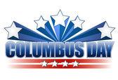 Columbus day illustration design on white — Stock Photo