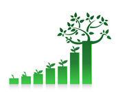 Eco gráfico gráfico ilustración diseño en blanco — Foto de Stock