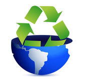 Green earth recycle concept illustration design — Foto Stock