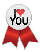 I love you ribbon illustration design — Stock Photo