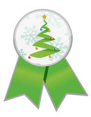 Christmas tree ribbon illustration design — Stock Photo