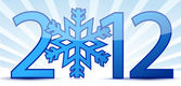 Snowflake 2012 text illustration design — Foto Stock