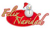 Spanish - merry christmas snowman sign illustration design — Stock Photo