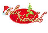 Spanish Christmas sign illustration design Feliz Navidad — Stock Photo