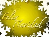 Spanish - Merry christmas themed background — Stock Photo