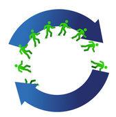 Socialmedia networking movement cycle illustration design on white — Stock Photo
