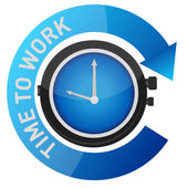 Time to work concept illustration design over white — Stock Photo