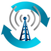 Wi fi tower cycle illustration design on white — Stock Photo
