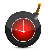Clock in a bomb. Illustration on white background — Stock Photo