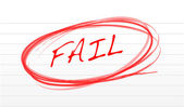 Fail written on a notepad paper illustration design — Stock Photo
