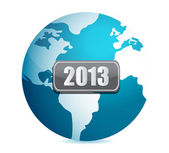 2013 globe illustration design over white background — Stock Photo