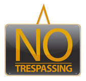 No trespassing sign illustration sign over white — Stock Photo