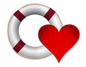 Lifesaver and heart — Stock Photo
