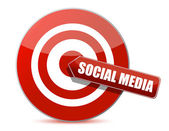 Target bulls eye social media illustration design on white — Stock Photo