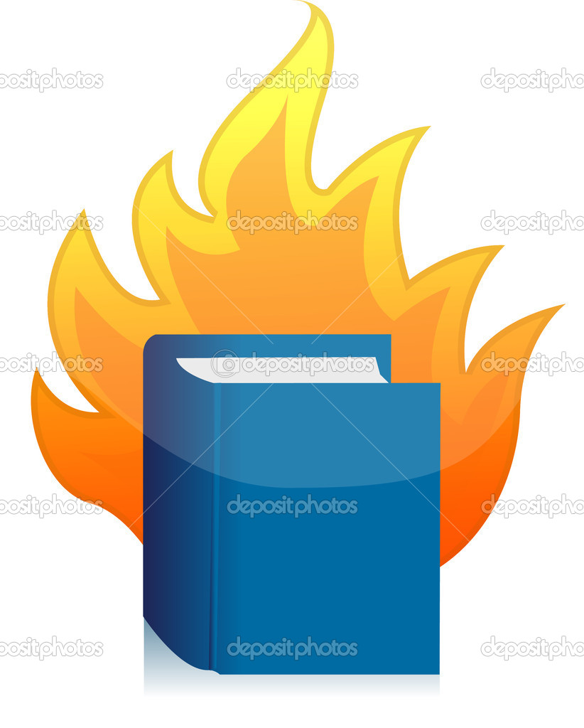 Open book with flame illustration design   Stock Photo #9308042