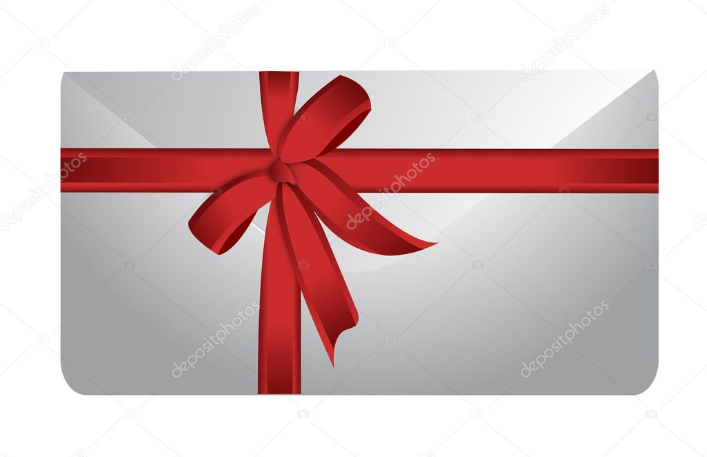 Envelope and ribbon illustration design on white background  — Foto Stock #9308456