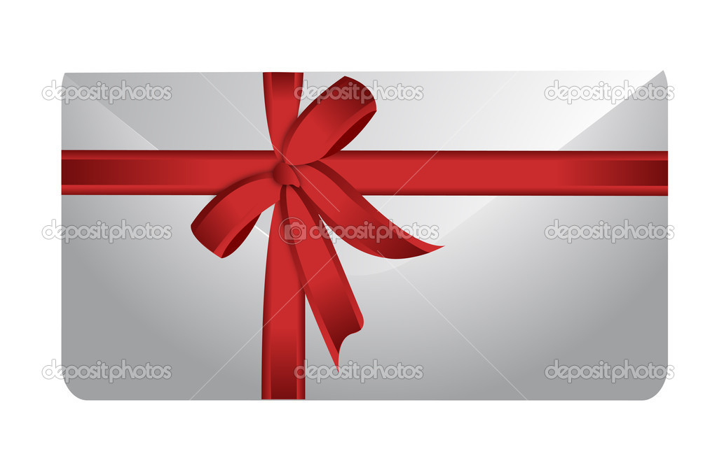 Envelope and ribbon illustration design on white background   Photo #9308456