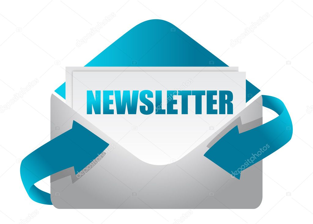 Newsletter envelope illustration design on white illustration — Stock Photo #9308459