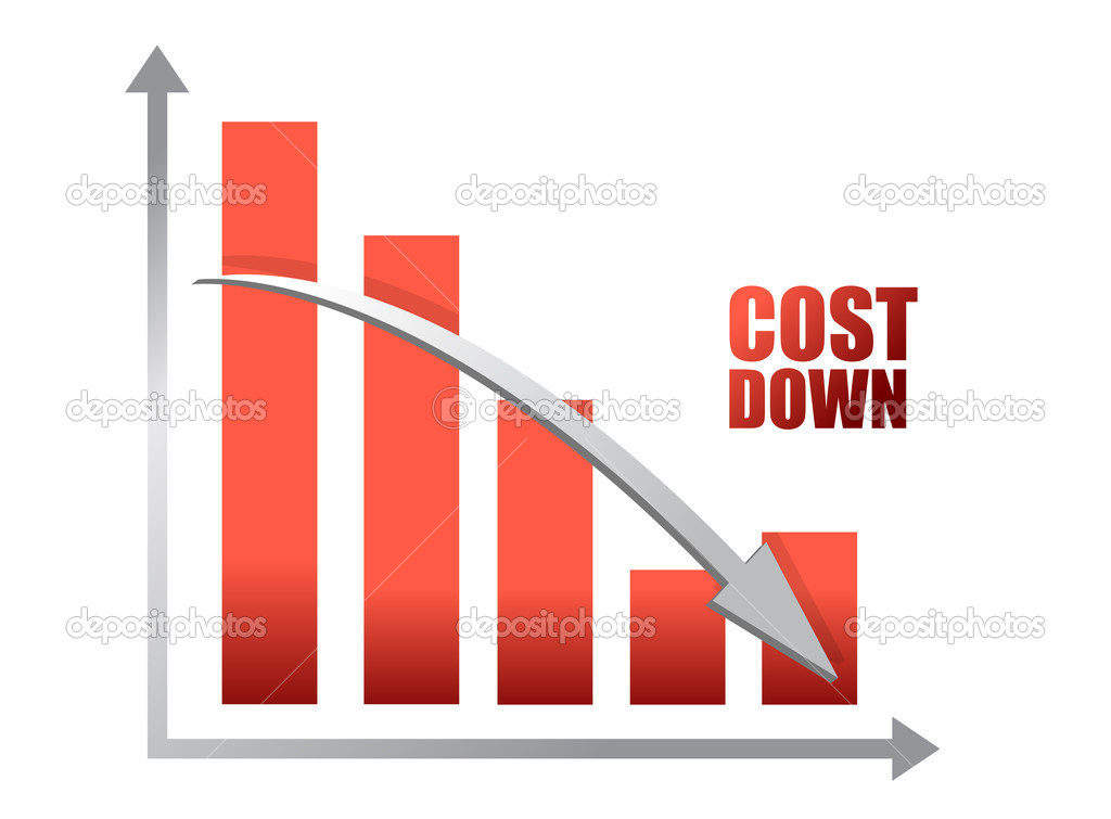 Chalk drawing - Cost down chart illustration design  — Stock Photo #9308540
