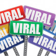 Stock Photo: Viral marketing signs concept design on white background
