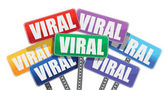 Viral marketing signs concept design on white background — Stock Photo