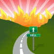 Road to hell concept illustration design — Stock Photo