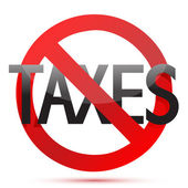 No taxes illustration design over white background — Stock Photo