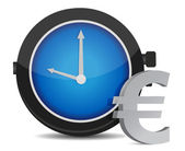Time is money euro concept illustration on white — Stock Photo