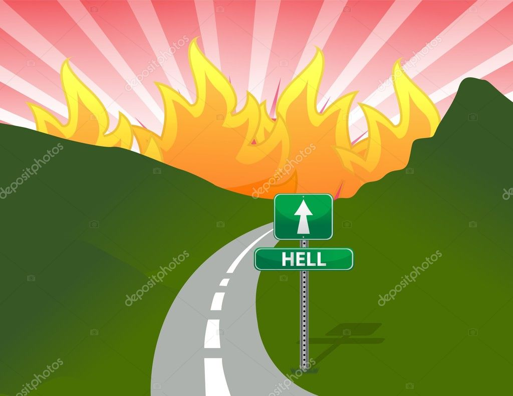Road to hell concept illustration design  — Stock Photo #9357583