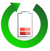 Battery recycling concept illustration design over white — Photo