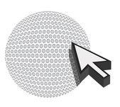Golf ball with cursor arrow - sport shopping concept illustration — Stock Photo