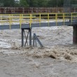 Flooding river — Stock Photo