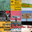 World travel signs - Stock Photo