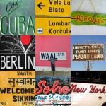 World travel signs — Stock Photo